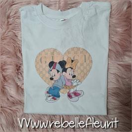 Tshirt minnie e topolino cuore