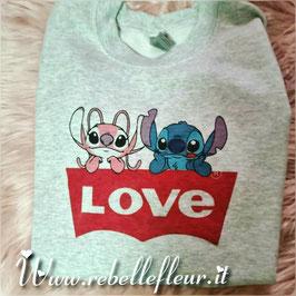 Felpa stitch in Love COPPIA