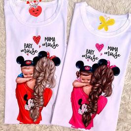 Tshirt mamma e figlio/a Minnie