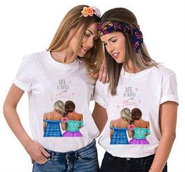 Tshirt coppia Bionda e Mora