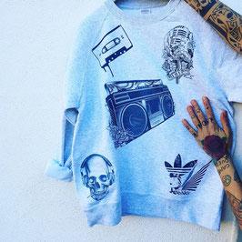 Felpa Tattoo Black&White
