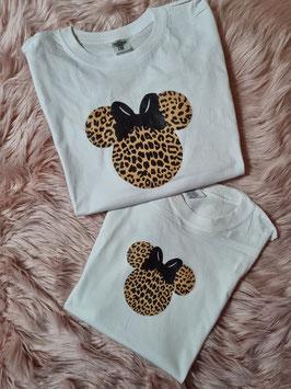 Tshirt minnie leopardata
