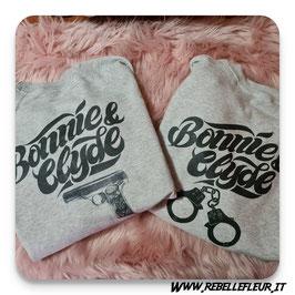 Felpa copppia Bonnie & Clyde