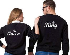 Felpa copppia King & Queen Nere