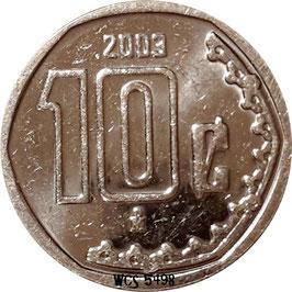 Mexico 10 Centavos 2009-2016 KM#934