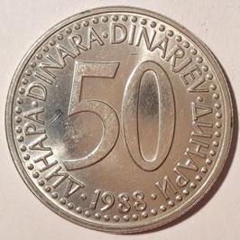 Yugoslavia 50 Dinara 1985-1988 KM#113