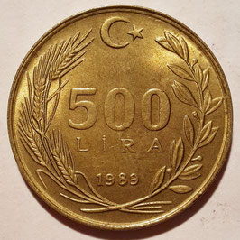 Turkey 500 Lira 1988-1997 KM#989