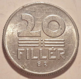 Hungary 20 Filler 1967-1989 KM#573