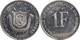 Burundi 1 Franc 1976-2003 KM#19