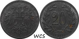 Austria 20 Heller 1916-1918 KM#2826