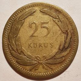 Turkey 25 Kurus 1948-1956 KM#886