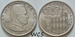 Monaco 1 Franc 1976 KM#140 XF+