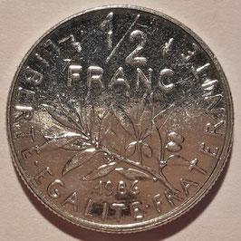 France ½ Franc 1965-2001 KM#931