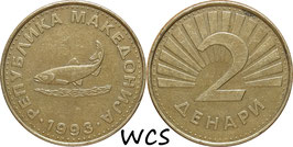 Macedonia 2 Denari 1993-2014 KM#3
