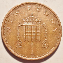 Great Britain 1 New Penny 1971-1981 KM#915