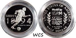 USA ½ Dollar 1994 P KM#246 Proof - World Cup