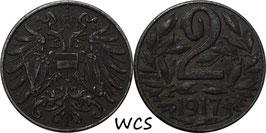 Austria 2 Heller 1916-1918 KM#2824