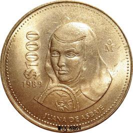 Mexico 1000 Pesos 1988-1992 KM#536