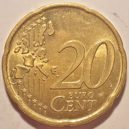 Portugal 20 Cents 2002-2007 KM#744