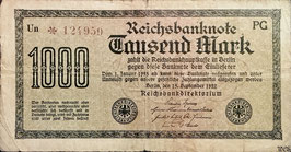 Germany 1000 Mark 15.09.1922 Ro 75k Printer: PG