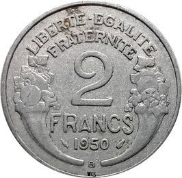 France 2 Francs 1945-1958 Beaumont-le-Roger KM#886a.2