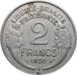 France 2 Francs 1945-1958 Beaumont-le-Roger KM#886a.2