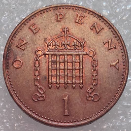 Great Britain 1 Penny 1982-1984 KM#927