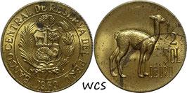 Peru ½ Sol 1966-1973 KM#247