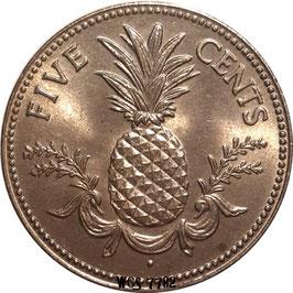 Bahamas 5 Cents 1974-2006 KM#60