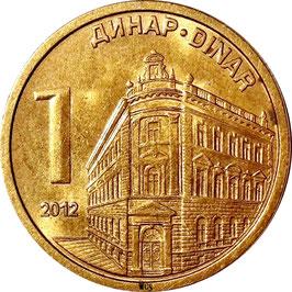 Serbia 1 Dinar 2011-2019 KM#54