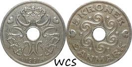Denmark 5 Kroner 1990-2001 KM#869.1 VF