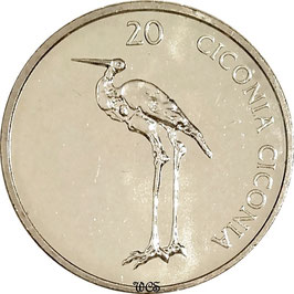 Slovenia 20 Tolarjev 2003-2006 KM#51