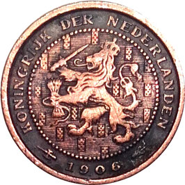 Netherlands ½ Cent 1903 & 1906 KM#133
