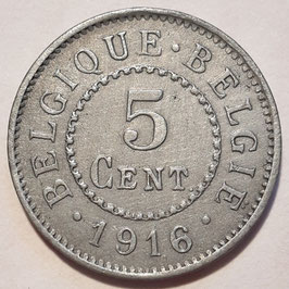 Belgium 5 Centimes 1915-1916 (German Occupation) KM#80