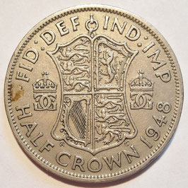 Great Britain ½ Crown 1947-1948 KM#866