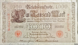 Germany 1000 Mark 21.04.1910 (09-10.1921) Ro 45c Underprint/Series J/E