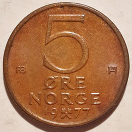 Norway 5 Øre 1973-1982 KM#415