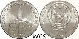 Rwanda 50 Francs 2003 KM#26 UNC