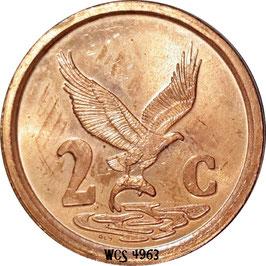 South Africa 2 Cents 1996-2000 AFURIKA-TSHIPEMBE (Venda) KM#159