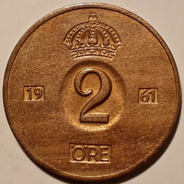 Sweden 2 Öre 1952-1971 KM#821
