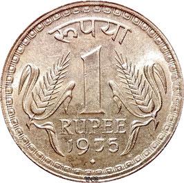 India 1 Rupee 1975-1979 KM#78.1