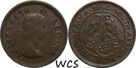 South Africa ¼ Penny 1954 KM#44 VF