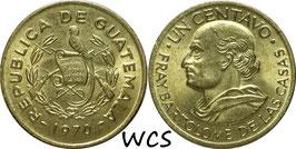 Guatemala 1 Centavo 1965-1970 KM#265