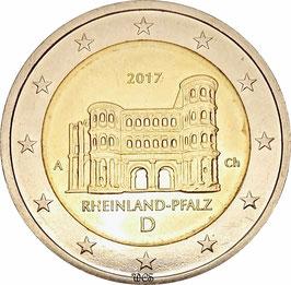 Germany 2 Euro 2017 Bundeslander Series - Rhineland-Palatinate, Porta Nigra KM#-