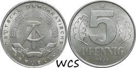 GDR 5 Pfennig 1968-1990 KM#9