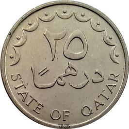 Qatar 25 Dirhams 1973-1998 KM#4