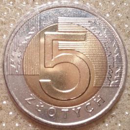 Poland 5 Zlotych 1994-2017 Y#284