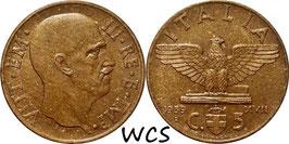 Italy 5 Centesimi 1939-1943 KM#73a