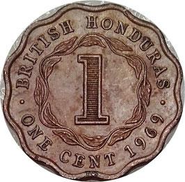 British Honduras 1 Cent 1969 KM#30 VF
