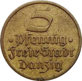 Danzig 5 Pfennig 1932 KM#151 VF